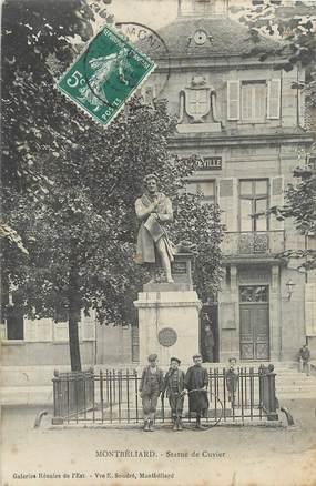 """/ CPA FRANCE 25 """"Montbéliard, statue de Cuvier"""""""