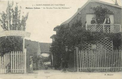 """/ CPA FRANCE 27 """"Saint Pierre de Vauvray, maison Cohan"""""""