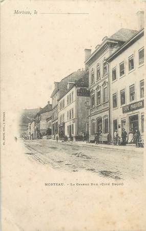 "/ CPA FRANCE 25 ""Morteau, la grande rue"""