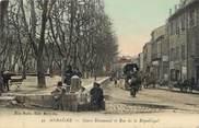 """13 Bouch Du Rhone / CPA FRANCE 13 """"Aubagne, cours Beaumond et rue de la République"""""""