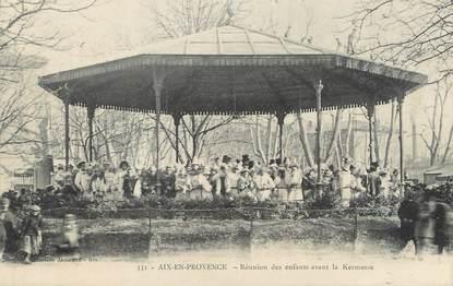 """/ CPA FRANCE 13 """"Aix en Provence, réunion des enfants avant la kermesse"""""""
