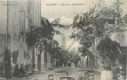 """/ CPA FRANCE 13 """"Alleins, rue du 4 septembre """""""