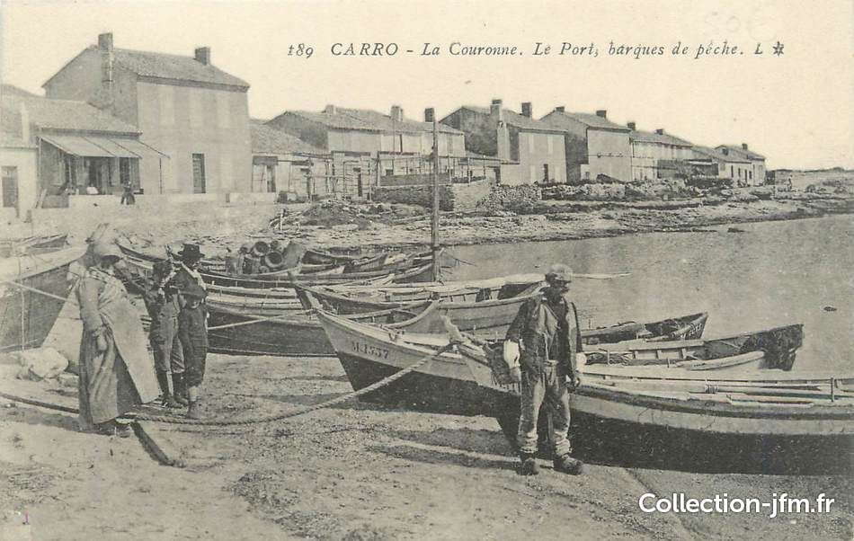 Cpa france 13 carro la couronne le port 13 bouches for Bouches du rhone 13