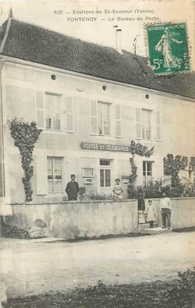 """/ CPA FRANCE 89 """"Fontenoy, le bureau de poste"""""""