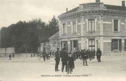 """/ CPA FRANCE 51 """"Chalons sur Marne, fabrique de papiers Peints"""""""