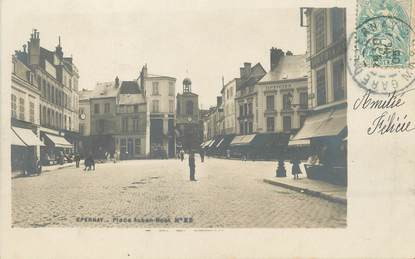 "/ CPA FRANCE 51 ""Epernay, place Auban Moët"""