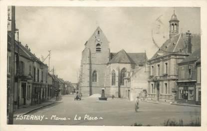 """/ CPSM FRANCE 51 """"Esternay, la place"""""""