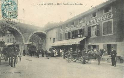 "CPA FRANCE 42 ""Le Pertuiset, Hotel Prudhomme Lacroix"""