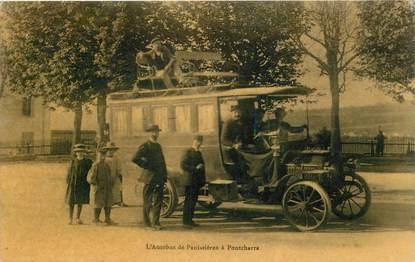 """CPA FRANCE 42 """"L'Autobus de Panissières à Pontcharra"""""""