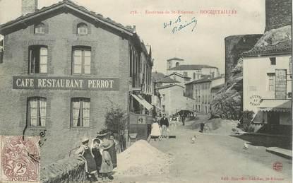 "CPA FRANCE 42 ""Rochetaillée, café restaurant Perrot"""