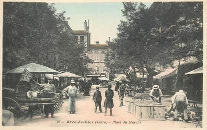 """CPA FRANCE 42 """"Rive de Gier, Place du Marché"""""""