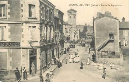 """CPA FRANCE 42 """"Roche la Molière, rue de la République"""""""