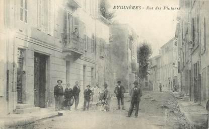 """/ CPA FRANCE 13 """"Eyguières, rue des Platanes"""""""