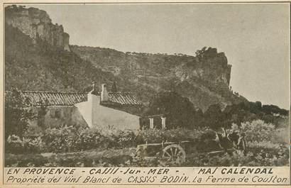 """/ CPA FRANCE 13 """"Cassis sur Mer, propriété des vins Blancs Bodin"""""""