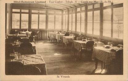 "/ CPA FRANCE 13 ""Cassis sur Mer, hôtel restaurant Liautaud  """