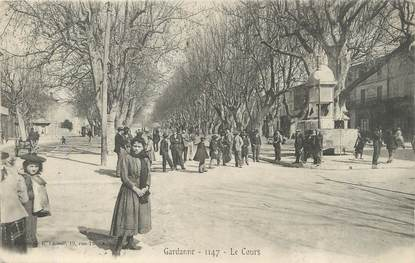 "/ CPA FRANCE 13 ""Gardanne, le cours """