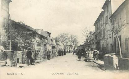 "/ CPA FRANCE 13 ""Lamanon, grande rue """