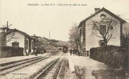 "/ CPA FRANCE 13 ""Jouques, la gare"""