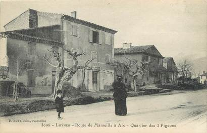 """/ CPA FRANCE 13 """"Luynes, route de MArseille à Aix"""""""
