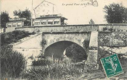 """/ CPA FRANCE 13 """"Le grand pont de Luynes"""" / TRAMWAY"""