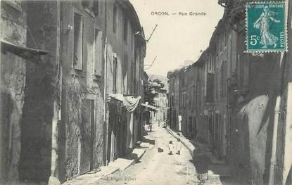 """/ CPA FRANCE 13 """"Orgon, rue grande"""""""
