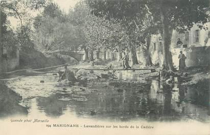 """/ CPA FRANCE 13 """"Marignane, lavandières sur les bords de la Cadière"""""""
