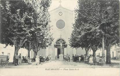 "/ CPA FRANCE 13 ""Mazargues, place Saint Roch"""