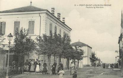 "/ CPA FRANCE 13 ""Port Saint Louis du Rhône, faubourg Hardon"""