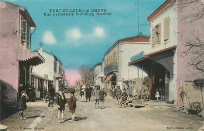 """/ CPA FRANCE 13 """"Port Saint Louis du Rhône, rue principale Faubourg Hardon"""""""