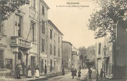 """/ CPA FRANCE 13 """"Pelissanne, la mairie et les allées de Craponne"""""""
