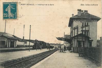 """/ CPA FRANCE 13 """"Port de Bouc intérieur de la gare"""""""