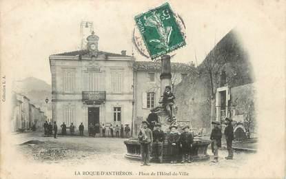 """/ CPA FRANCE 13 """"La Roque d'Anthéron, place de l'hôtel de ville """""""