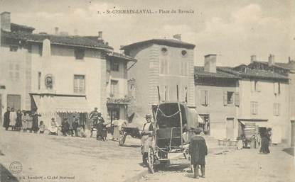 """CPA FRANCE 42 """"Saint Germain Laval, Place du Revarin"""""""