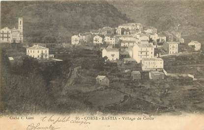 """CPA FRANCE 20 """"Corse, Bastia, village de Cardo"""""""