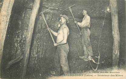 """CPA FRANCE 42  """"Grand Croix, intérieur des Mines"""""""