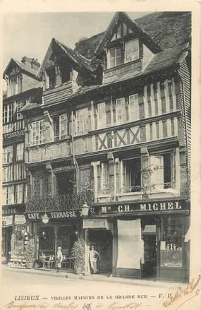 """/ CPA FRANCE 14 """" Lisieux, vieilles maisons de la grande rue"""""""
