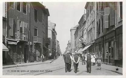 "CPA FRANCE 42  ""Rive de Gier, la grande rue Feloin"" / Ed. Etoile"