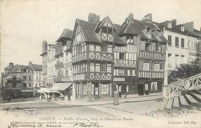 """/ CPA FRANCE 14 """" Lisieux, vieilles maisons, place du marché au beurre"""""""