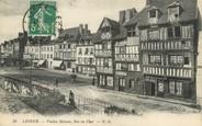 "14 Calvado / CPA FRANCE 14 "" Lisieux, vieilles maisons, rue Au Char"""
