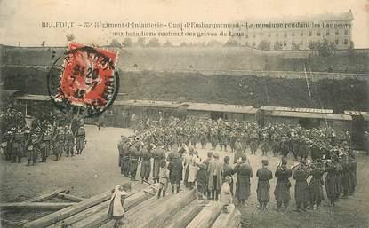 """CPA FRANCE 90 """"Belfort, 35e Régiment d'Infanterie, Grèves de Lens"""""""