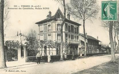 "CPA FRANCE 91 ""Yerres, restaurant des Camaldules, Maison Pons"""