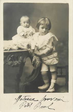 "/ CARTE PHOTO FRANCE 73 ""La Rochette"" / ENFANTS"