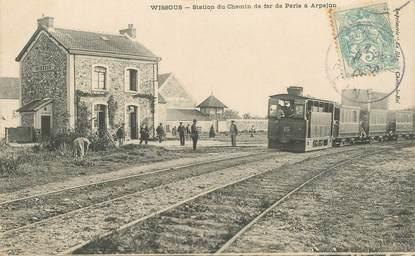 """CPA FRANCE 91 """"Wissous, station du chemin de fer de Paris à Arpajon"""" / TRAIN"""