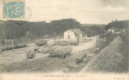 """CPA FRANCE 91 """"Saint Hilaire, la gare"""""""