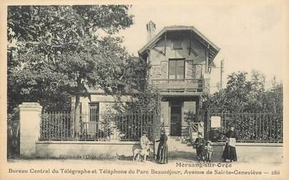 """CPA FRANCE 91 """"Morsang sur Orge, bureau central du télégraphe et Téléphone du Parc Beauséjour, avenue de Sainte Geneviève"""""""