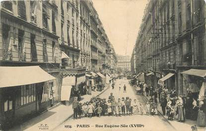 """/ CPA FRANCE 75018 """"Paris, rue Eugène Süe"""""""
