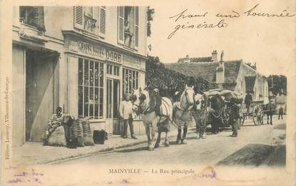 """CPA FRANCE 91 """"Mainville, la rue principale"""""""