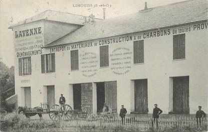 """CPA FRANCE 91 """"Limours, Entrepôt de matériaux de construction et de charbons"""""""
