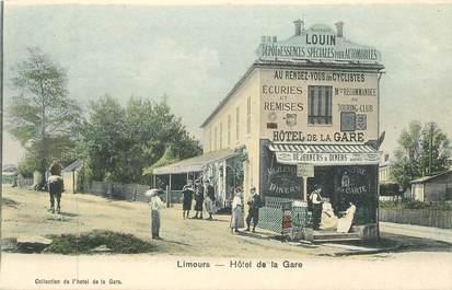 "CPA FRANCE 91 ""Limours, Hotel de la gare"""