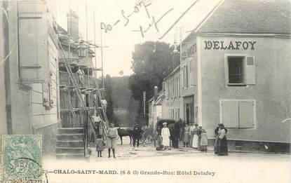 """CPA FRANCE 91 """"Chalo Saint Mard, grande rue, Hotel Delafoy"""""""